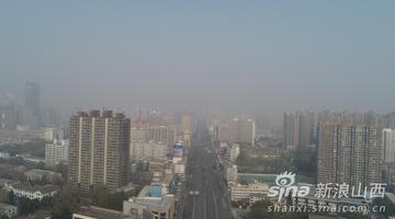 高空揭秘 雾霾笼罩下的太原城