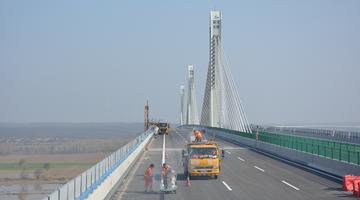 山西运宝黄河大桥附属工程完工