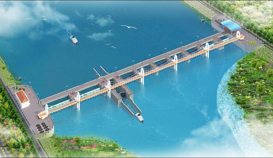 汾河新二坝工程效果图。