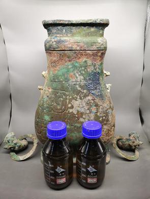 山西北白鹅墓地铜壶内装有果酒遗存