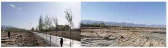 图2 代县明利矿业公司在滹沱河右岸违规倾倒大量尾矿砂 来源:生态环境部微信公众号