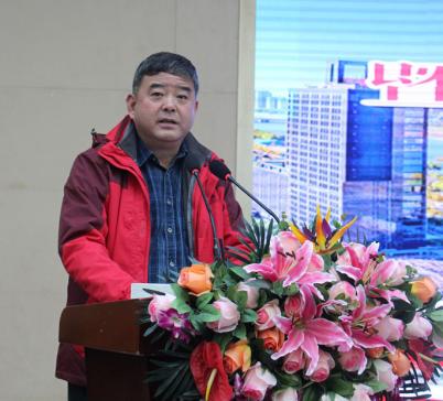 太原市新闻中心外联处处长杨志敏主持展览开幕仪式
