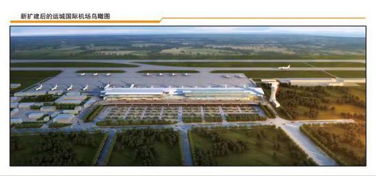 图为扩建后的运城国际机场鸟瞰图