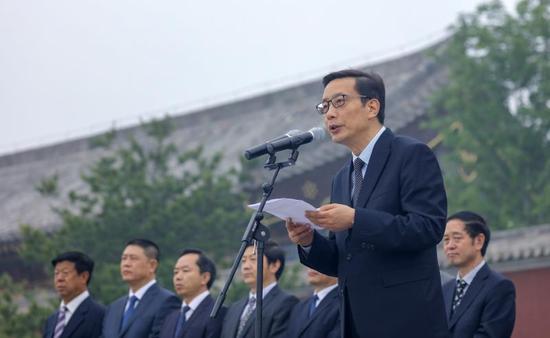 高平市委书记范兆森(李强 摄)