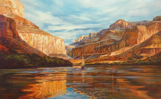 大峡谷,布面油画,61x91cm