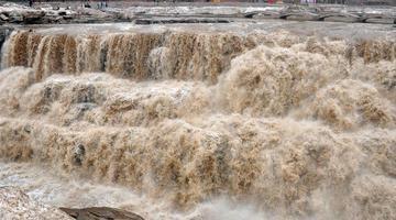 黄河壶口瀑布水量增大 气势磅礴