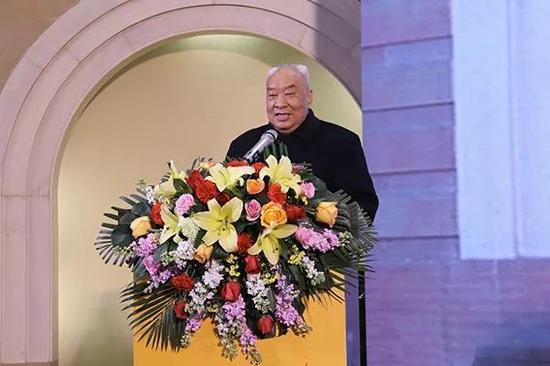 原陕西省委书记安启元宣布展览开幕