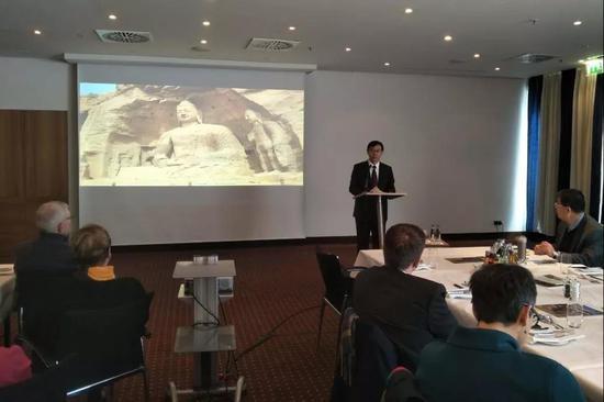 大同市旅游发展委员会主任高莹进行山西旅游推介