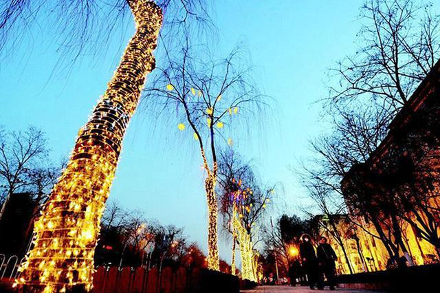 拥抱新时代点亮太原城 112万件灯饰扮靓夜晚街道