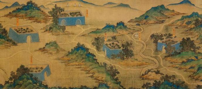 《丝路山水地图》