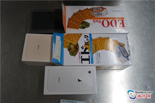 """饼干盒藏iPhone8!这位""""00后""""被罗湖海关当场查获"""