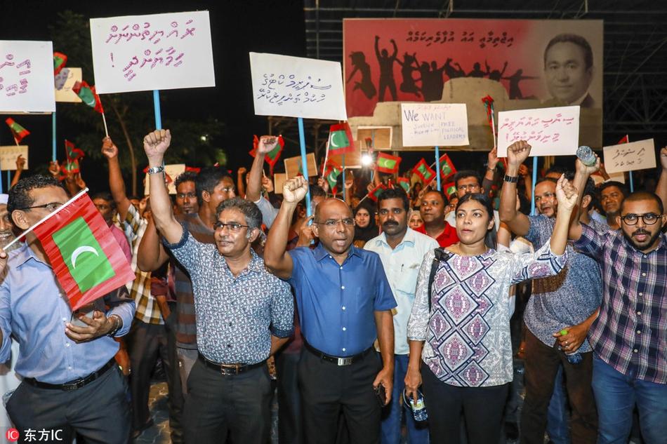 马尔代夫前总统被捕 军警街头警戒