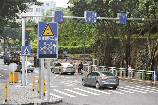 潮汐车道在一定程度上可以缓解城市道路交通拥堵。