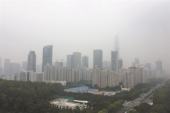 今明两天深圳市局地有轻雾或霾 注意交通安全