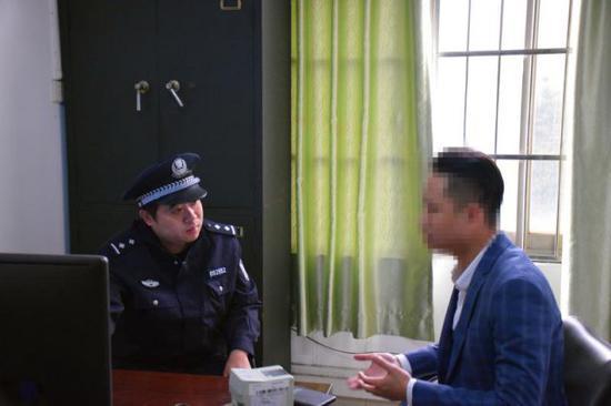 ▲陈某到深圳铁路公安处常平站派出所投案自首。