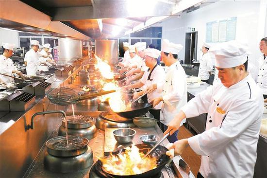 ▲2019年9月粤菜师傅技能提升培训班上课现场。