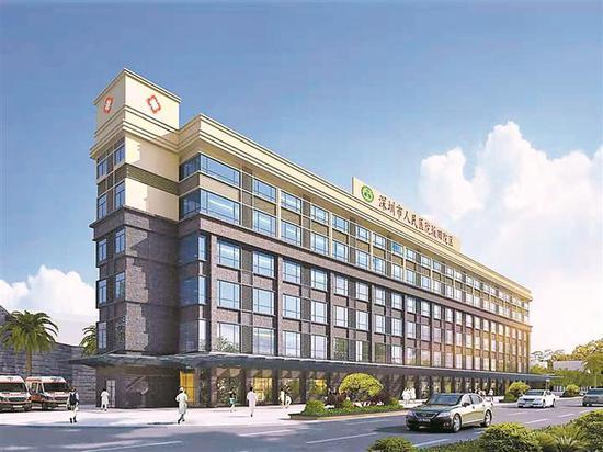 深圳市人民医院坂田院区效果图。