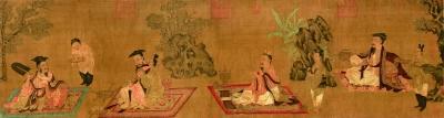 高逸图(国画) 宋 孙位 上海博物馆藏