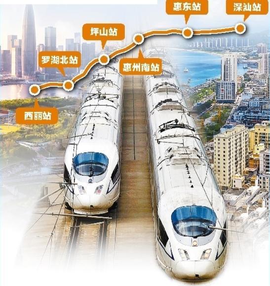 深汕高铁就要来了 共6个站 最小行车间隔3分钟