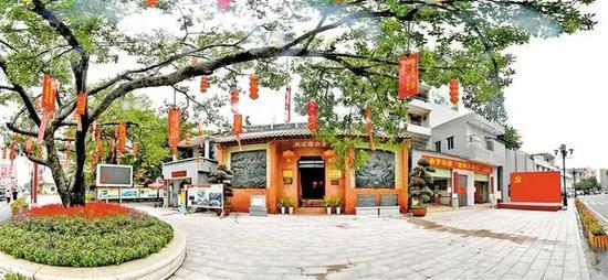 中共宝安县第一次党员代表大会纪念馆与党建书吧。