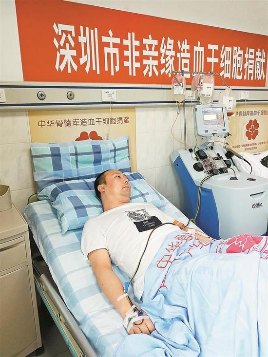 赵明星是深圳第257例造血干细胞捐献者。 深圳晚报记者 胡琼兰 摄