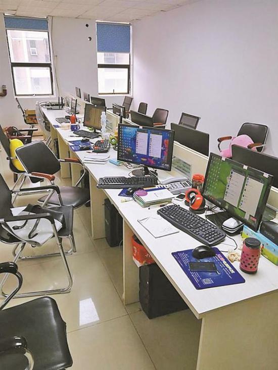 ▲警方缴获的涉案电脑。