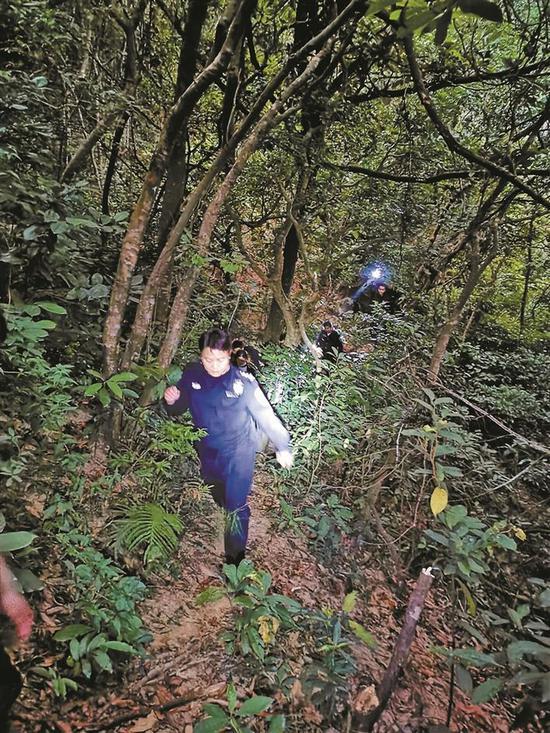 3游客抄小路登梧桐山迷路获救 警方提醒登山时应按指示牌走