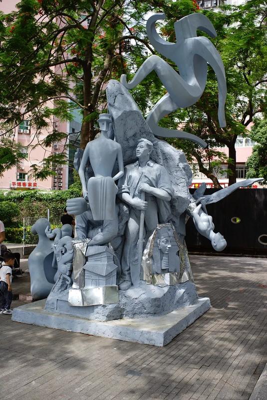 戴耘,《雕塑深圳》,570×226×356cm,综合材料,雕塑,2018)