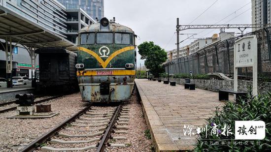 深圳有一个绿皮火车怀旧车站 曾是广州与九龙之间的经停站