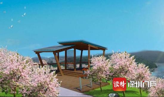 平湖生态园林相改善工程设计图。
