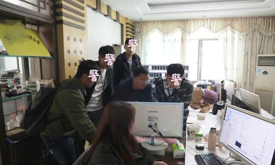 警方赴湖南抓获嫌疑人。