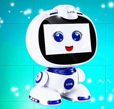 """乐源公司产品机器人""""小乐""""。"""