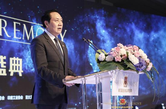 """中国亚洲经济发展协会执行会长权顺基发布""""2018亚洲品牌500强""""榜单"""