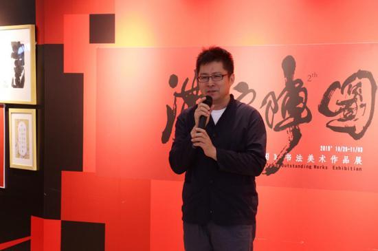 深圳市美协副主席张闯在开幕式上致辞
