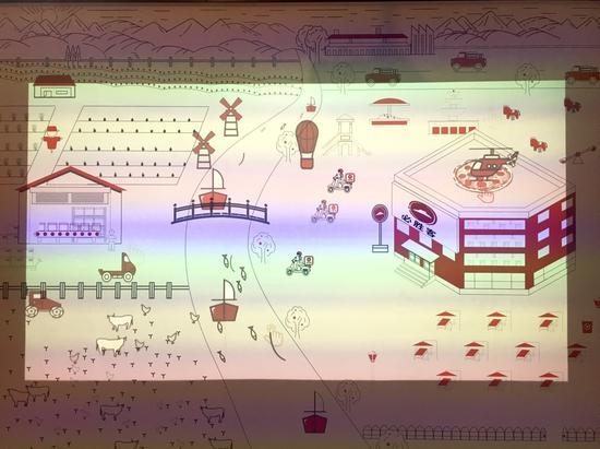 投影互动体验墙