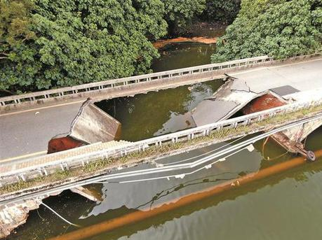 罗湖区银湖银宾桥塌陷将拆除重建 注意绕行