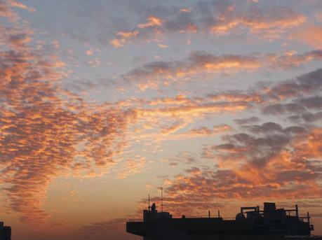 深圳晚霞 秋日的黄昏美景