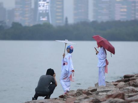 深圳湾公园雨中即景