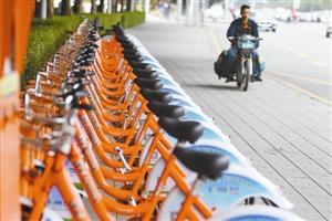 共享单车一时间风靡深圳 乱停放等问题待解