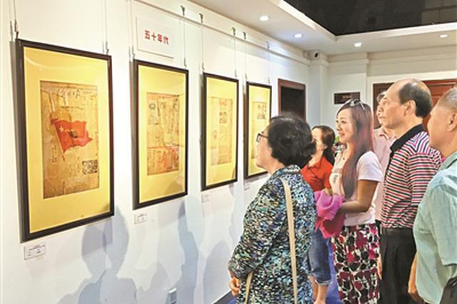 建军90周年报纸收藏展 原版报纸藏品再现红色历史