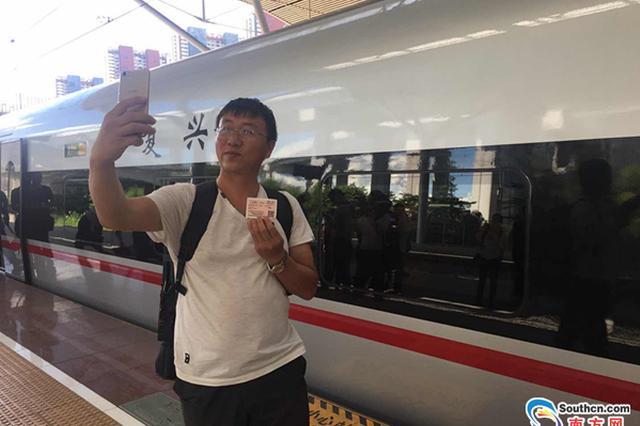 """""""复兴号""""动车组国庆期间在广深港高铁开跑"""