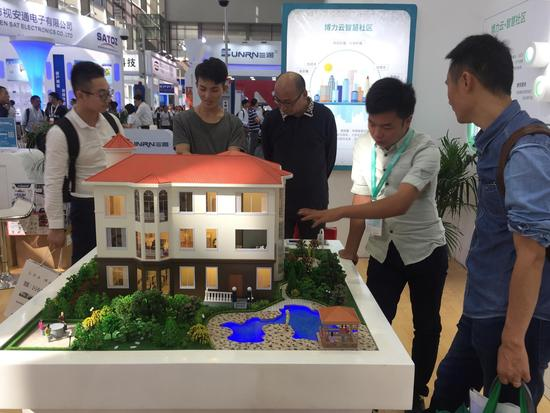 智能的别墅模型