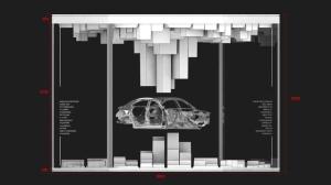 彭楚尧和其团队设计研发的悬浮大型车模产品。
