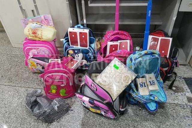 深圳罗湖检验检疫局在学童书包中截获带土盆栽