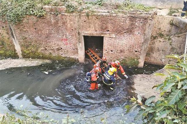 19岁女孩赌气钻进河道涵洞轻生 多部门紧张救援近5小时