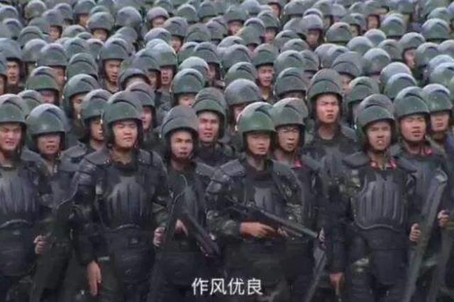 现场超燃 深圳公安武警联合大练兵