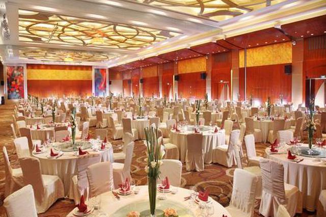 酒店宴会厅可预订 开放初期限人数