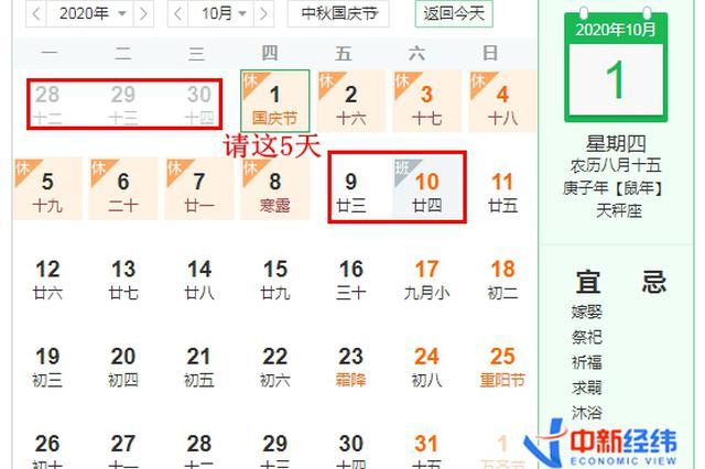 """中秋国庆这样""""拼""""可凑16天假 错峰出行机票便宜超千元"""