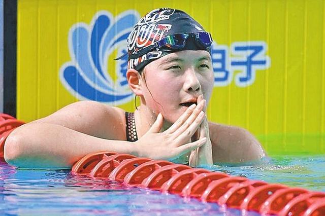 深圳汤慕涵获女子400米自由泳第五