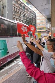 香港市民欢送核酸检测支援队